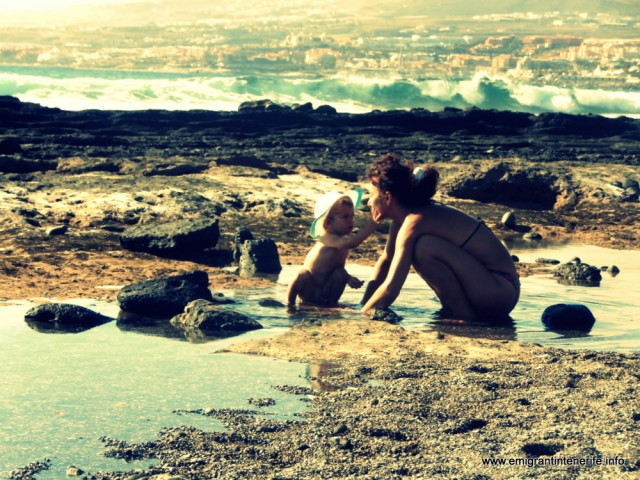 Tenerife, playa de las americas, Yago cu bunica